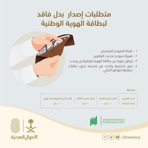 الأحوال المدنية توضح متطلبات إصدار بدل فاقد لبطاقة الهوية الوطنية صحيفة صدى الالكترونية