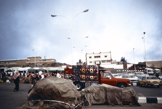سوق شعبي في أبها عام 1401 هـ